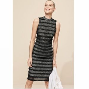 NWOT J.CREW Embroidered Sheath Dress Fringy Lace